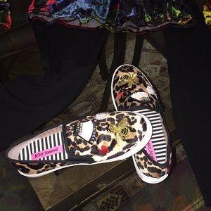 Betsy Johnson Leopard Sneakers